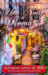 """Una Notte a Roma -- An Evening in Rome -- is the theme of the ARC of Martin County's """"Evening of Entertainment""""onApril 18, 2020 at Hutchinson Shores Resort & Spa on April 18, 2020."""