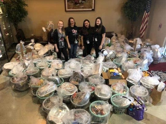 "Students at South Fork High School collected food and supplies as part of Elev8Hope's ""Wave of Compassion in Action"" project  to provide deserving Martin County families with Thanksgiving dinners."