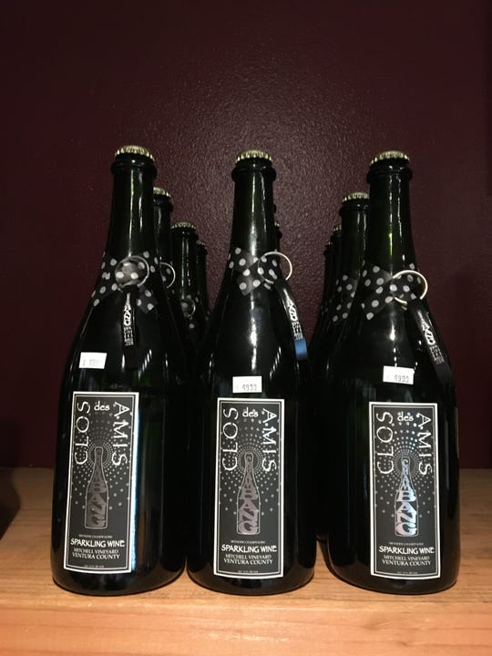Bottles of Chambang are seen on the shelves at Ventura Wine Co.