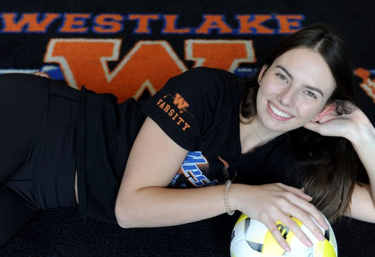 Katie Fleck used her leaping ability and powerful right arm to become a dominant outside hitter for a talented Westlake High team.