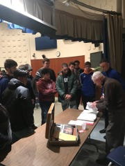 Tim Kiniry, a World War II veteran, recently shared his experiences with students at Millville High School