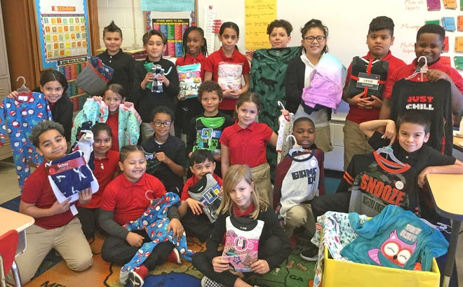 Third graders at D'Ippolito Elmentary School in Vineland recentlycompleted the Great Bedtime Story Pajama Drive, collecting 221 pairs of pajamas.