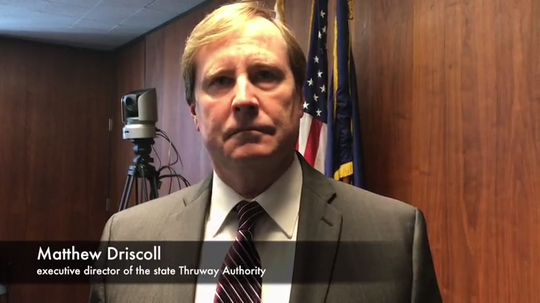 Matthew Driscoll, executive director of the state Thruway Authority, explains the board's vote Dec. 19, 2019, to raise tolls on the new Gov. Mario M. Cuomo Bridge starting in 2021.