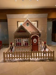 The gingerbread house on display at The Ritz Carlton in White Plains.