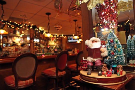 Holiday decorations brighten up Mulino's  restaurant in White Plains.