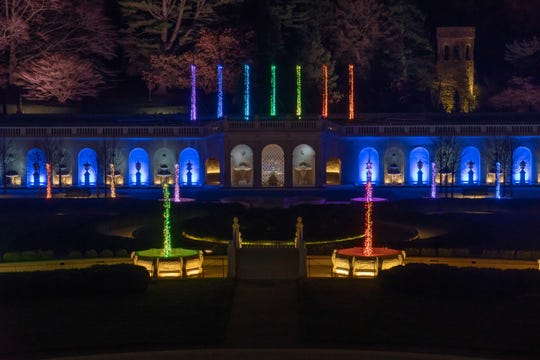 """A Longwood Christmas"" hired an Atlanta company this year to re-create in lights only its popular summer fountain lights and music shows."