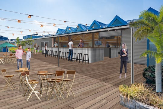 An artist rendering of the new Grain on the Rocks coming to Lewes this summer.