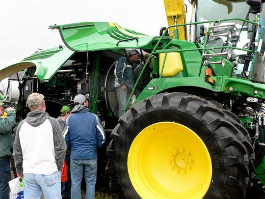 Farmers did a lot of looking at big tractors but not a lot of buying.