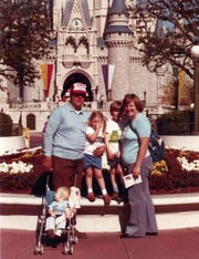 The Manzke family in 1980, from left, Bob, Rebecca, Rob, Susan, and baby Russell in the stroller.