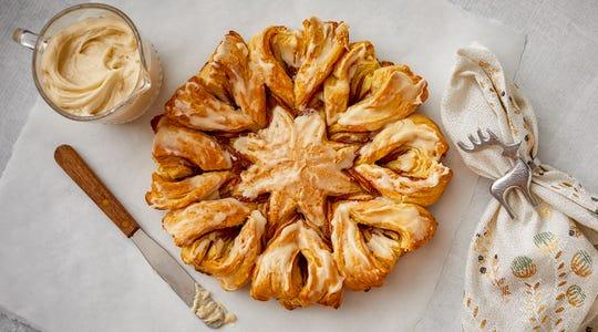 Snowflake Cinnamon Rolls