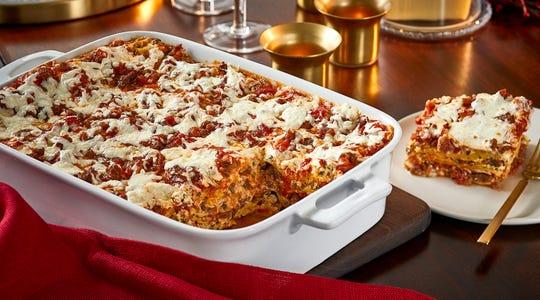 Sausage and Three Cheese Lasagna