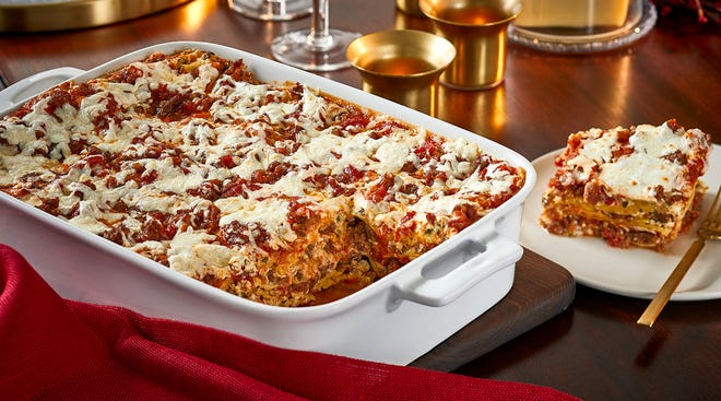 Sausage and Three Cheese Lasagna