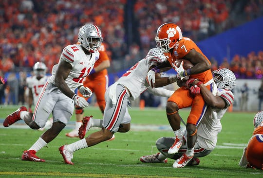 Clemson beat Ohio State when the schools met in the 2016 Fiesta Bowl during in a semifinal of the College Football Playoff at University of Phoenix Stadium.