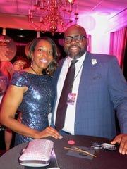 """Lynette Hampton and Antonio Dixon at """"Las Vegas Night."""