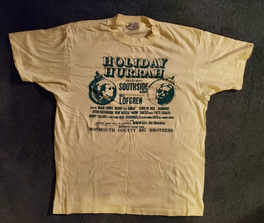 A t-shirt from the first Holiday Hurrah in Red Bank in 1983.