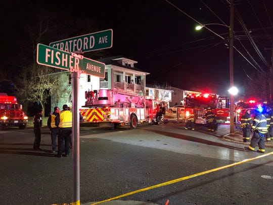 Fire crews extinguished a blaze at a home on Fisher Avenue in Neptune Dec. 19, 2019.