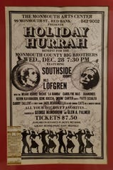 """A poster Stephan Bumball had signed by the artists  from the first Holiday Hurrah in Red Bank, 1983, including Richard """"La Bamba"""" Rosenberg, Southside Johnny Lyon, Nils Lofgren and Bruce Springsteen, who made a guest appearance that night."""