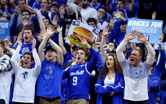 Dec 19, 2019; Newark, NJ, USA; Seton Hall Pirates fans react during a free throw attempt by the Maryland Terrapins