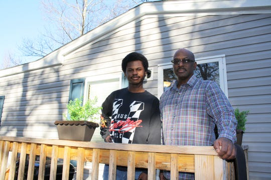 Stephen Bolden, right, and his son Devin.