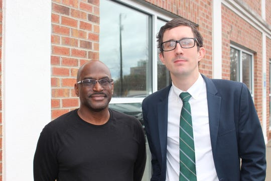Stephen Bolden, left, and Thomas Lodwick of Pisgah Legal Services.