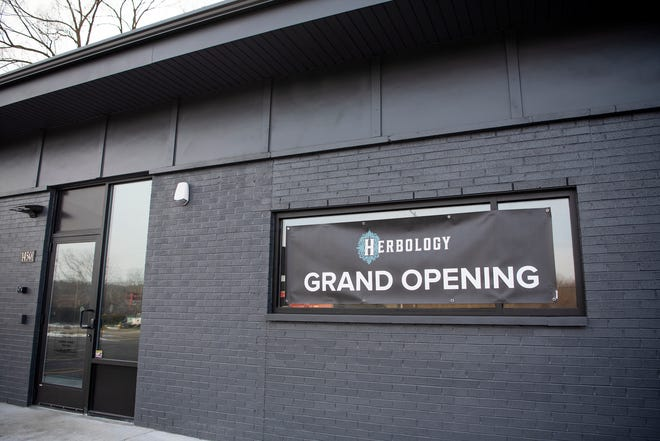 Herbology Provisioning Center is open and selling medicinal marijuana in Battle Creek, Mich. pictured on Friday, Dec. 20, 2019.