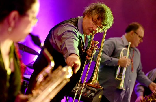 Basin Street Jazz Band plays during the 25th annual Rockin' Mardi Gras Celebration at the Lost Dog Cafe & Lounge in downtown Binghamton. March 5, 2019.