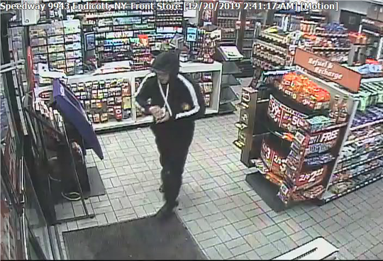 A suspect is accused of robbing a Speedway gas station at knifepoint in West Corners.