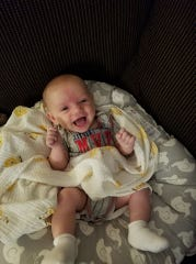 Maxwell James Oskam got sick suddenly and died at less than 4 months old because of pediatric cancer that was diagnosed too late.