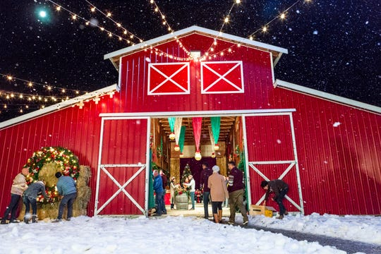 """""""Christmas in Evergreen"""" culminates with a Christmas festival at a local dairy farmer's brand-new barn."""