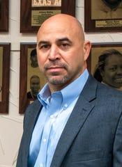 Texas A&M-Kingsville head football coach Mike Salinas.