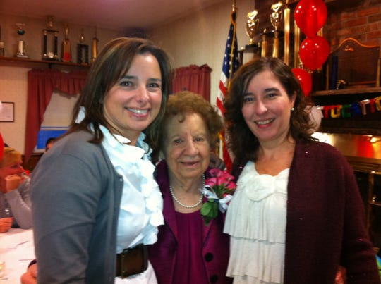 Here I am (right) at a birthday party for Grandma Jessie with my cousin Elaine Melia. Elaine's mom and my grandmother were sisters.