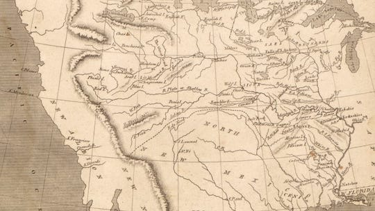 1805 Map of Louisiana by Samuel Lewis.
