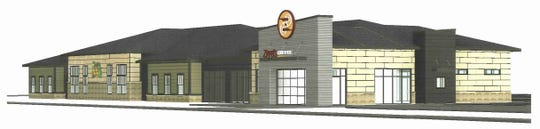 This drawing shows the planned building that will house Ziggi's Coffee and Little Jungle Safari in northwest Ankeny. Owners John and Rhoda Harris expect the building to be complete next year.