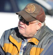 Dewey Minard talks about shopping at the last standing Kmart store in Marshall Mich. Thursday, December 19, 2019.