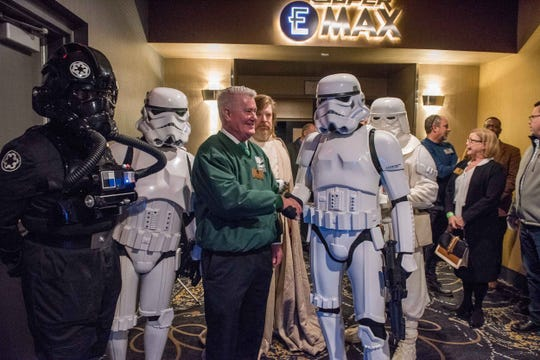 """Emagine Theatres on Thursday, Dec. 20, 2019, celebrated the arrival of what its press materials call the largest CinemaScope-style movie screen in the Midwest. Measuring 94 feet wide and 40 feet tall, the screen at the metro Detroit-based chain's Canton/Westland location opened with a screening of """"Star Wars: The Rise of Skywalker,"""" the highly anticipated ninth – and supposedly final – film in the story arc that began with """"Star Wars"""" in 1977."""
