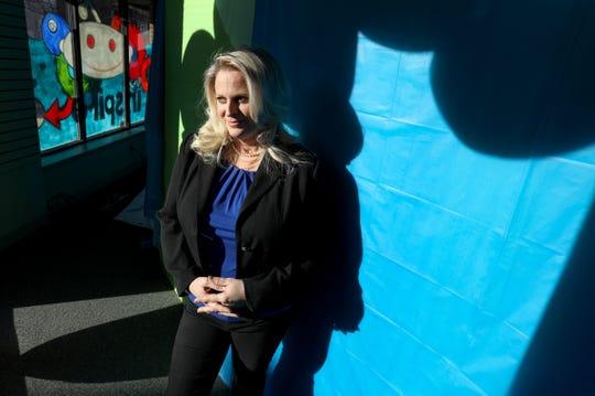 Monika Rittner, president of The Discovery Center, poses for a photo on Thursday, December 19, 2019.