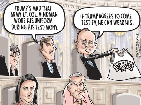 2019 in review cartoons from Mike Thompson.
