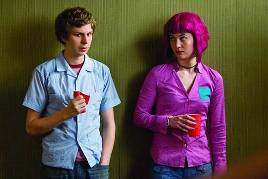 "Michael Cera and Mary Elizabeth Winstead in ""Scott Pilgrim vs. the World."""