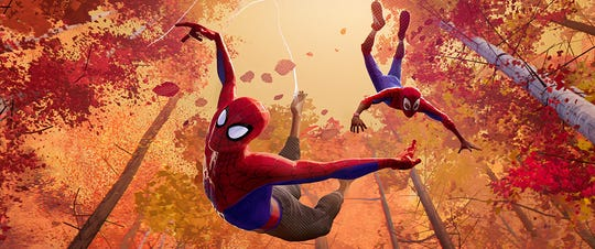 "Jakae Johnson and Shameik Moore voice characters in ""Spider-Man: Into the Spider-Verse."""