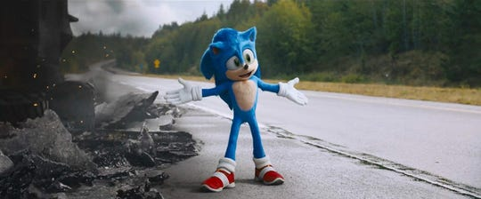 """A scene from """"Sonic the Hedgehog."""""""