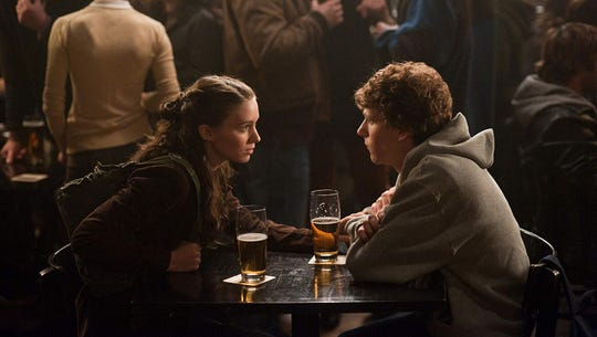 "Rooney Mara and Jesse Eisenberg in ""The Social Network."""