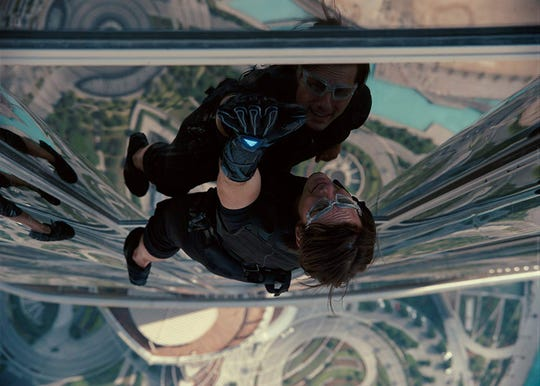 "Tom Cruise in ""Mission Impossible: Ghost Protocol."""