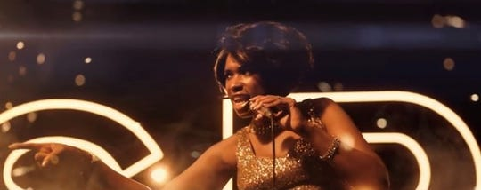 "Jennifer Hudson as Aretha Franklin in ""Respect."""