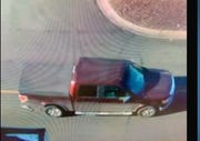 Police said the bank robbery suspect was seen in this pick up truck.