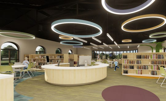 This preliminary architectural rendering from the Buehrer Group, Architecture and Engineering, inc. shows what the Birchard Public LIbrary in Fremont could look like inside after the library's planned multimillion addition and renovation project.