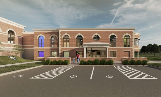 This preliminary architectural rendering from the Buehrer Group, Architecture and Engineering, inc. shows what the Birchard Public LIbrary in Fremont could look like after the library's planned multimillion addition and renovation project.