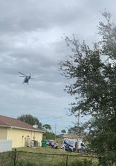 Cape Coral police said a 17-year-old male was taken by helicopter to Lee Memorial Hospital Friday morning after he was shot.