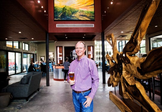 LaBelle Brewing's founder is Daniel Peregrin. He stands in the foyer of the brewery and Buckingham Farms restaurant. Peregrin teamed up with Buckingham Farms.