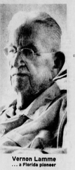 Vernon Lamme died in 1979; this photo accompanied his obituary in the Palm Beach Post
