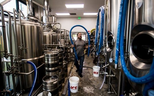 Corey Purcell is the brewmaster at the newly opened LaBelle Brewing Co. It is the first brewery to open in Hendry County. The brewery partnered with Buckingham Farms who is offering food.